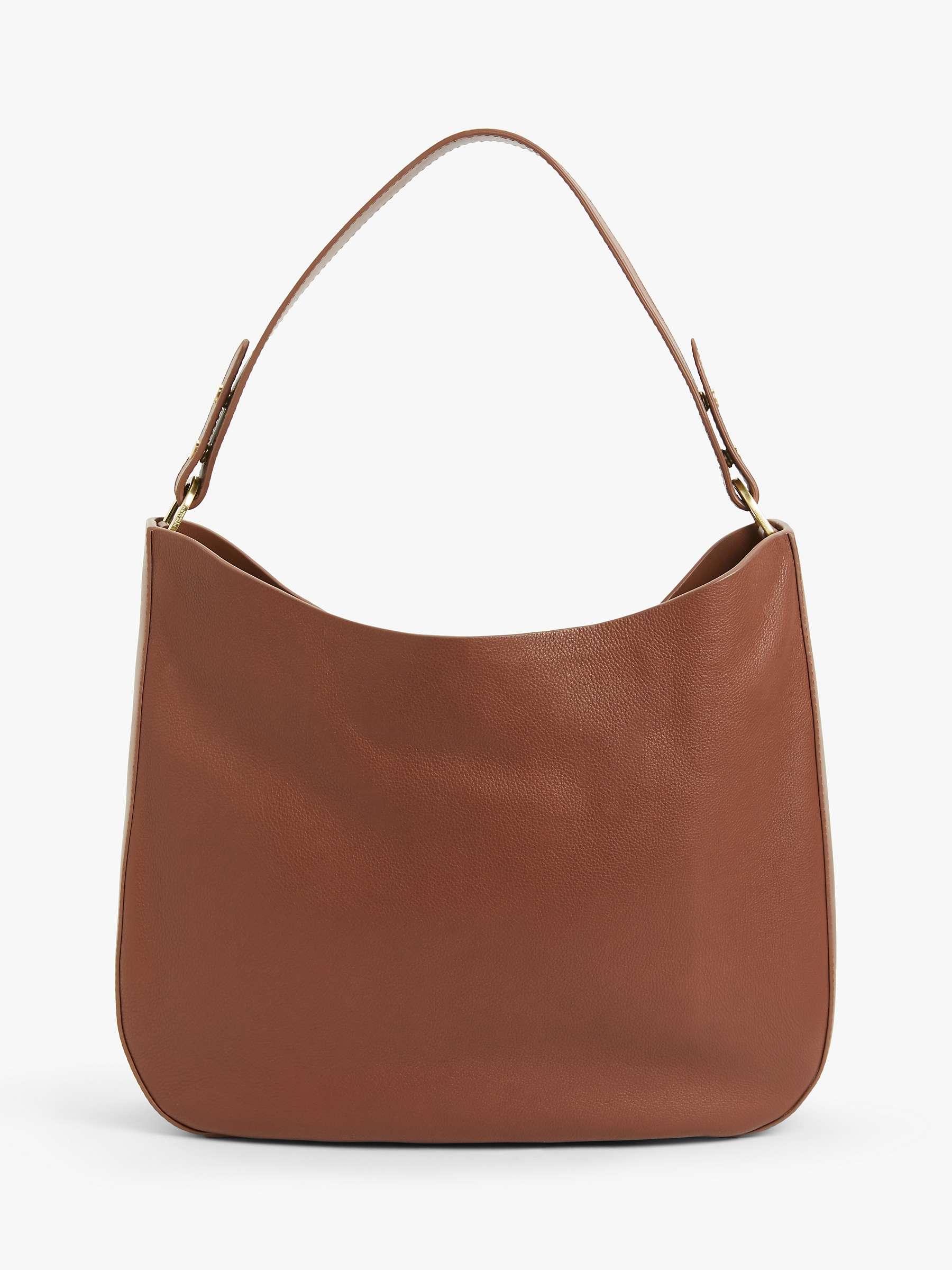 John Lewis Partners Freya Leather Hobo Bag Tan At