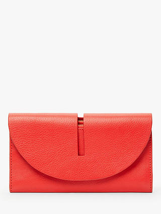 Buy John Lewis & Partners Ara Leather Foldover Purse, Red Online at johnlewis.com