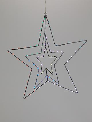 John Lewis & Partners ABC LED Rotating Morphing Star Light, Multi