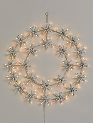 John Lewis & Partners 240 LED Twinkle Wreath Hanging Light, Dia.45cm