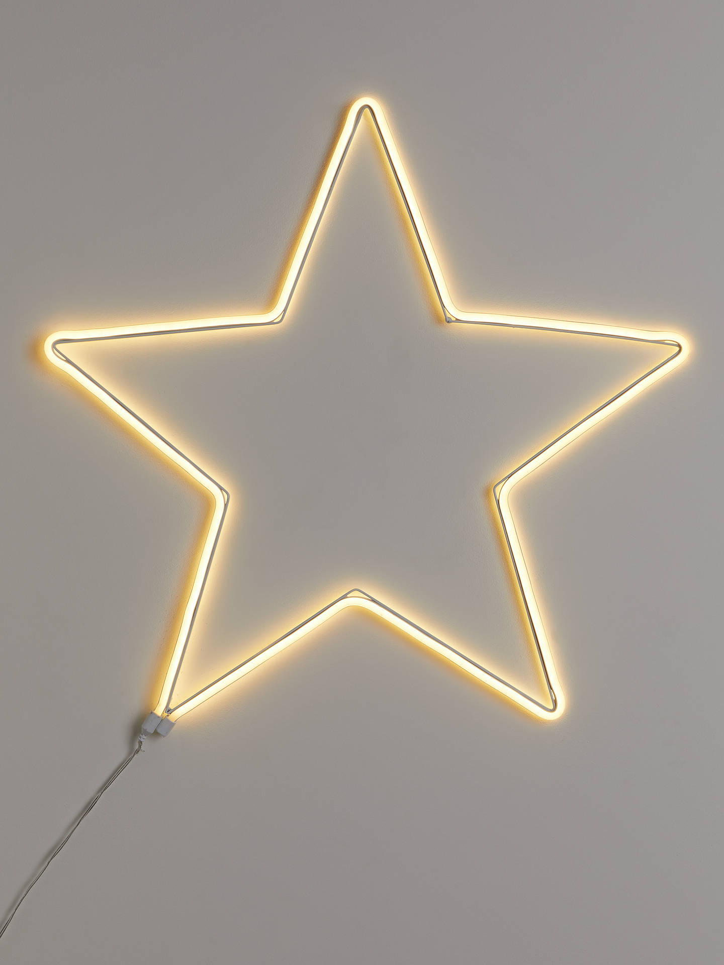 Buy John Lewis & Partners Party Neon Star Light, Large, Pure White Online at johnlewis.com