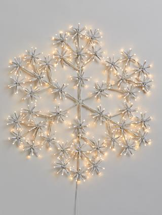 John Lewis & Partners 420 LED Twinkle Snowflake Hanging Light