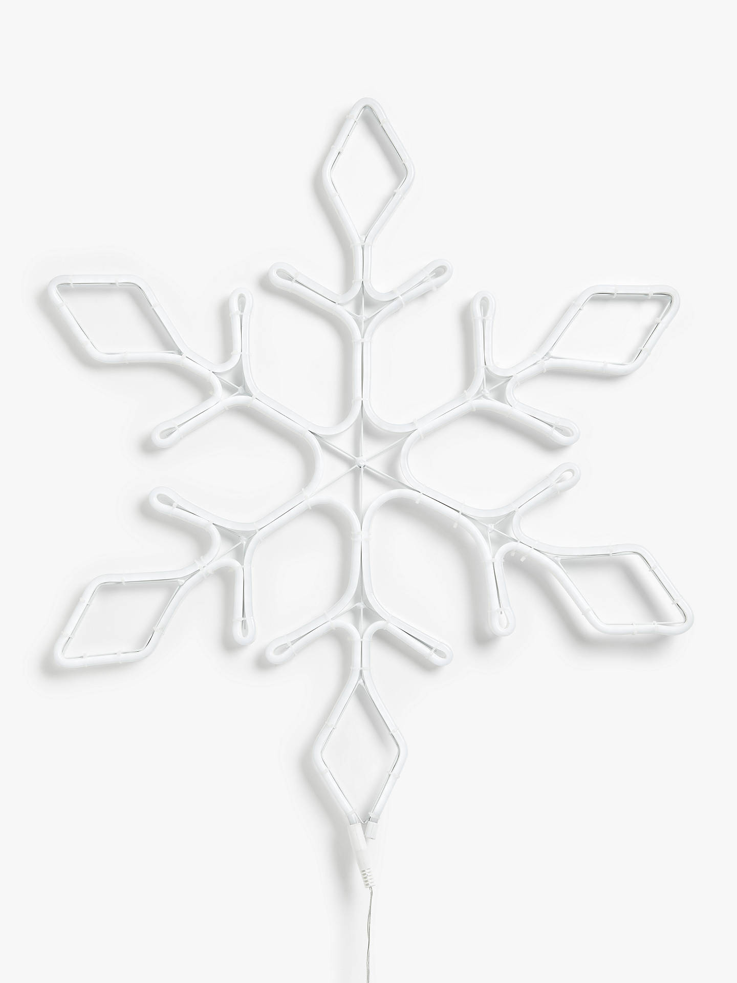 Buy John Lewis & Partners Neon Snowflake Light, Large Online at johnlewis.com