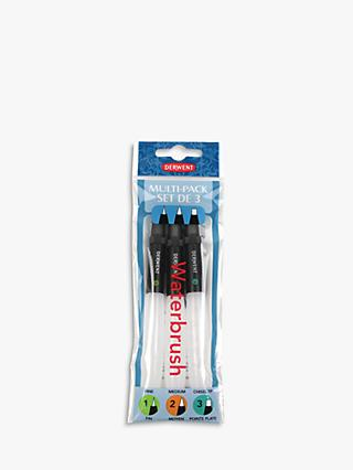 Derwent Waterbrush Set, Pack of 3
