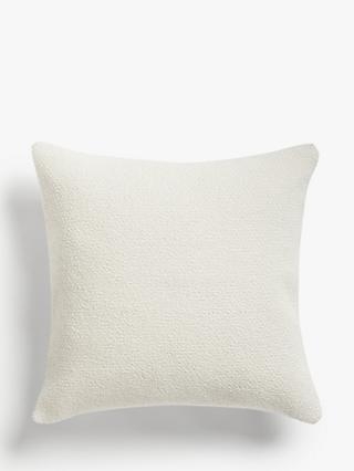 John Lewis & Partners Wool Blend Boucle Cushion, Marshmallow
