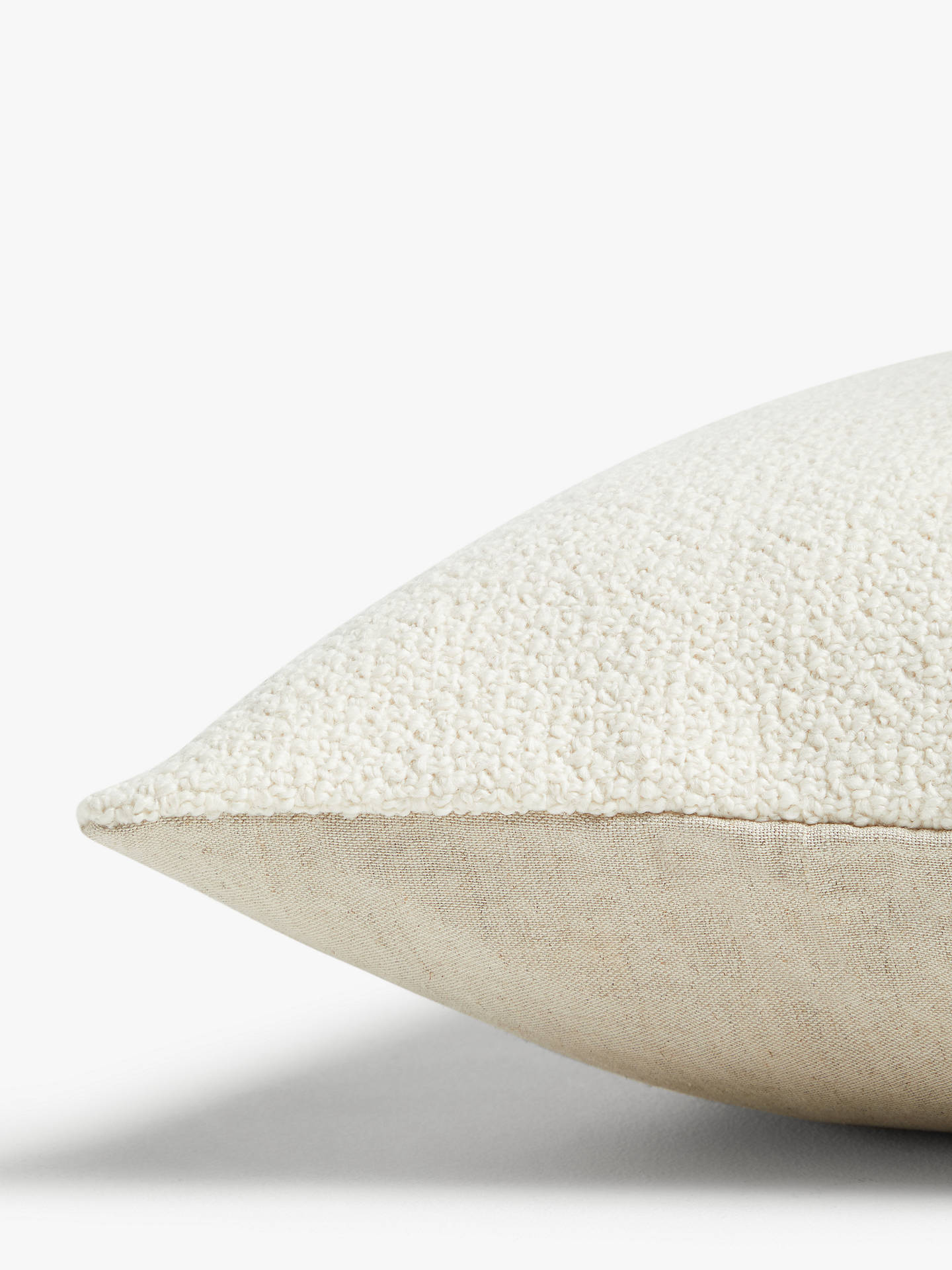 Buy John Lewis & Partners Wool Blend Boucle Cushion, Marshmallow Online at johnlewis.com