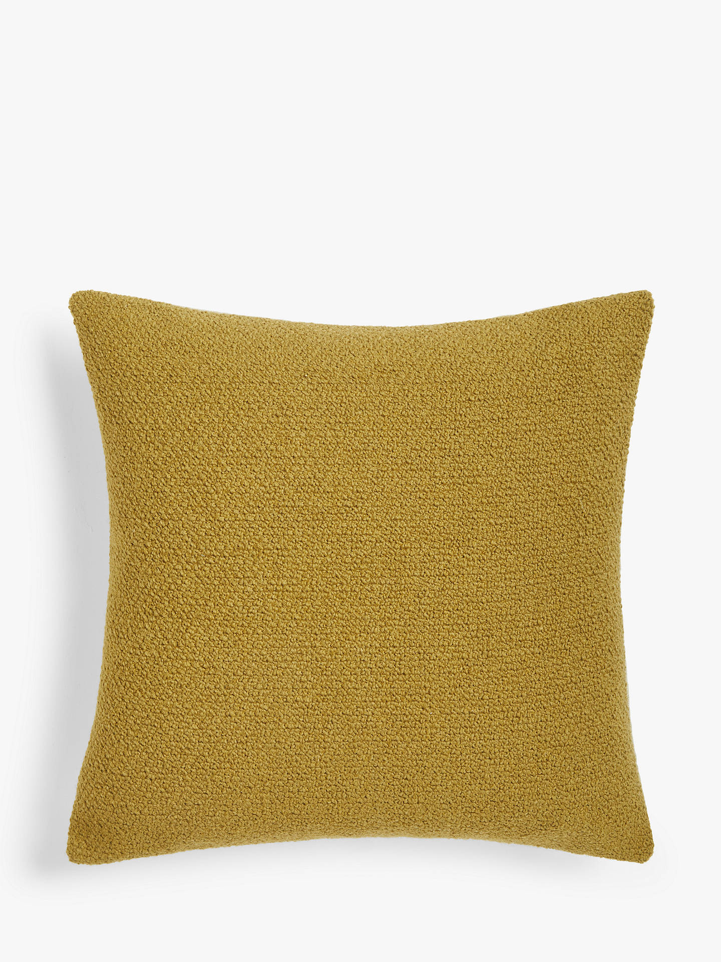 Buy John Lewis & Partners Wool Blend Boucle Cushion, Ochre Online at johnlewis.com