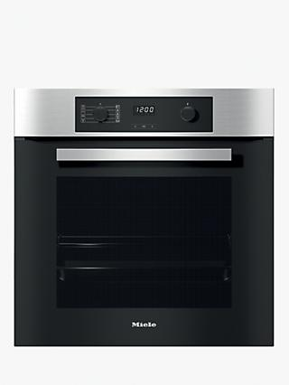 Miele H2265-1BP Built-In Single Electric Oven, A+ Energy Rating, Clean Steel