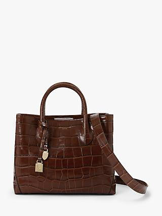 Aspinal of London The Midi London Croc Effect Leather Tote Bag