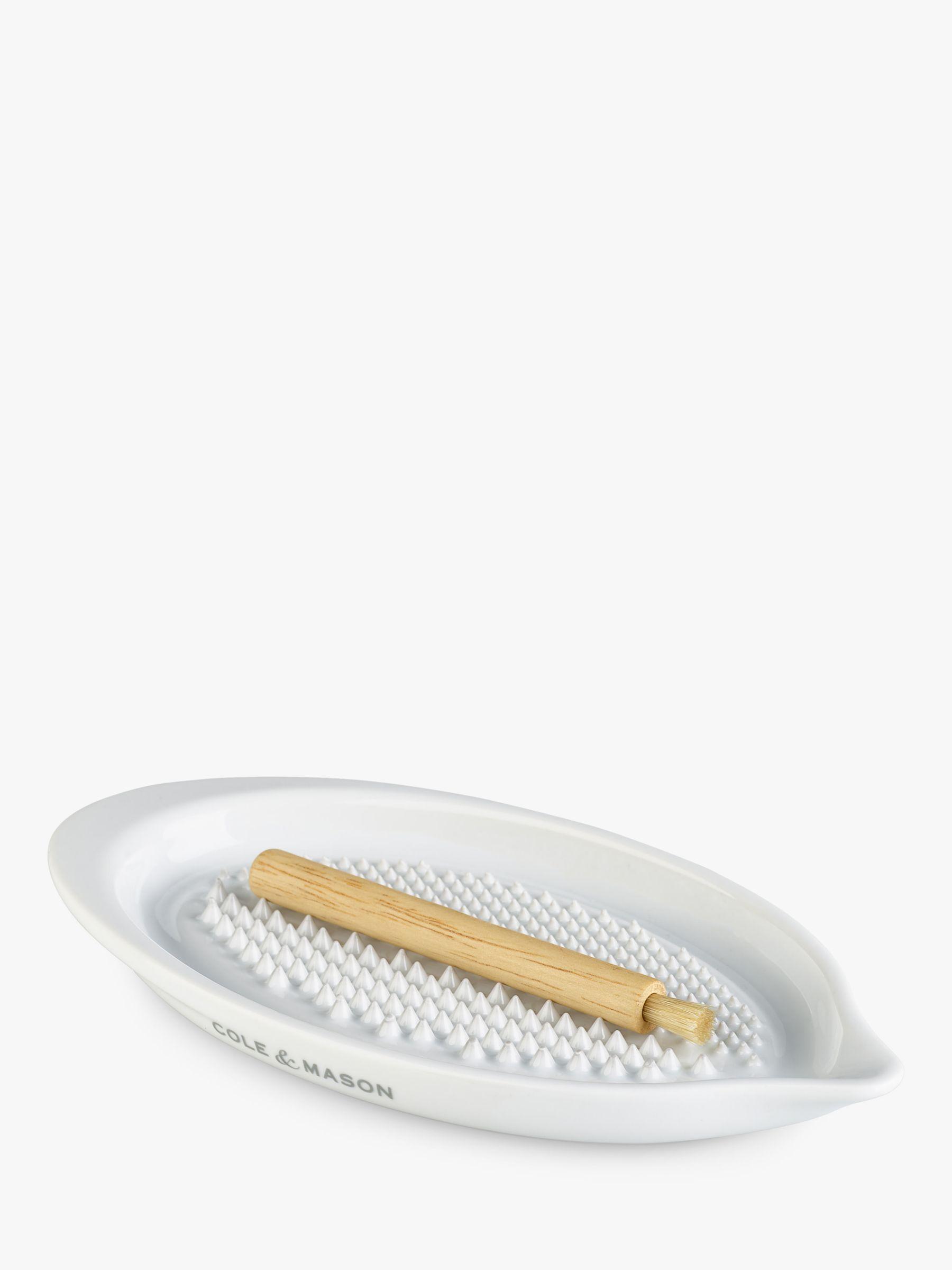 Cole & Mason Cole & Mason Ceramic Grater Plate, White