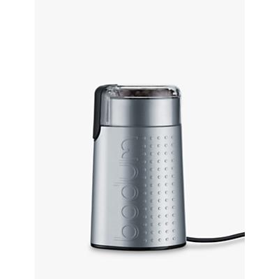 BODUM Bistro Blade Electric Coffee Grinder, Silver