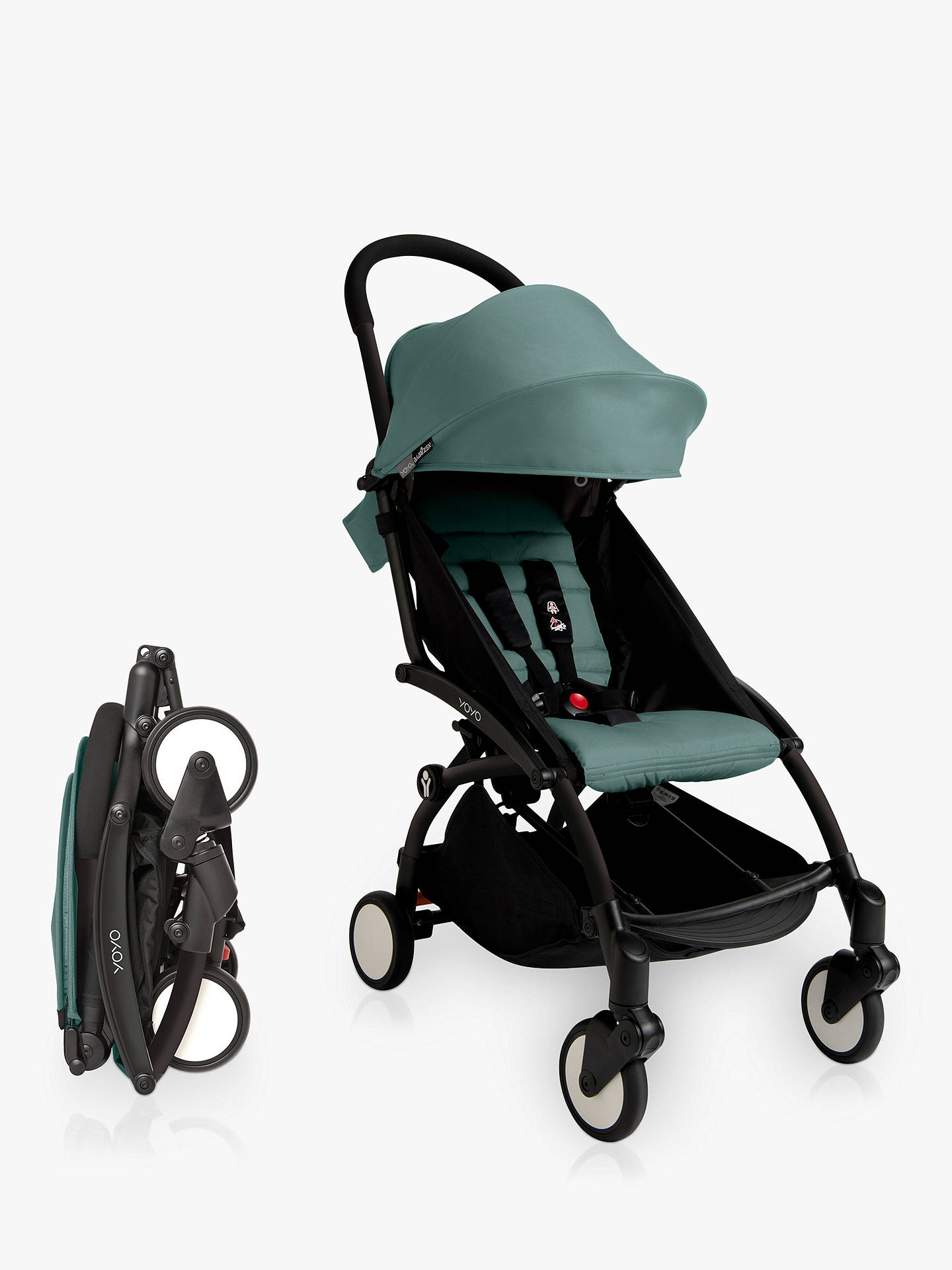 Buy BABYZEN YOYO+ Pushchair, Black/Aqua Online at johnlewis.com