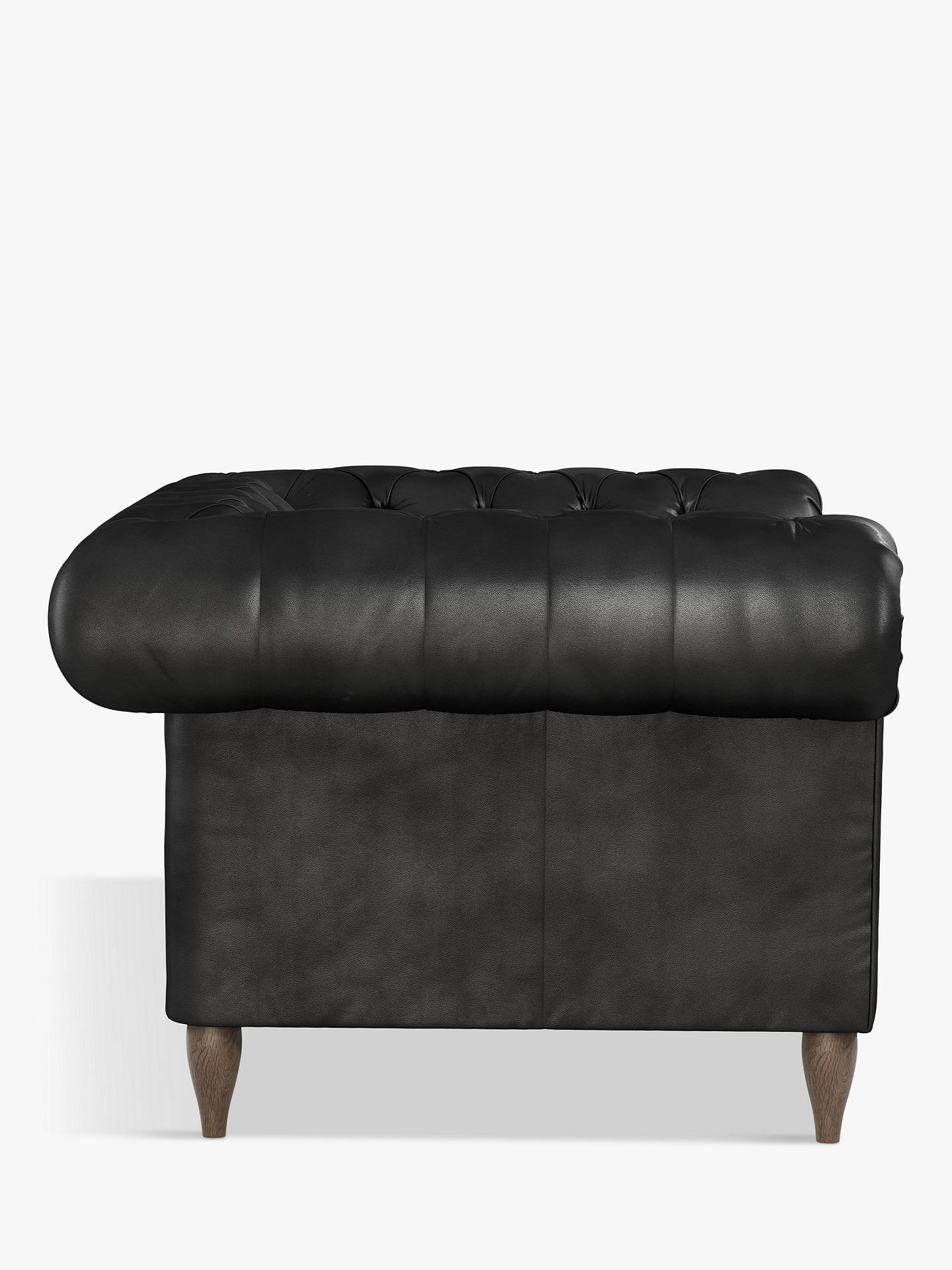 Buy John Lewis & Partners Cromwell Leather Snuggler, Dark Leg, Contempo Black Online at johnlewis.com