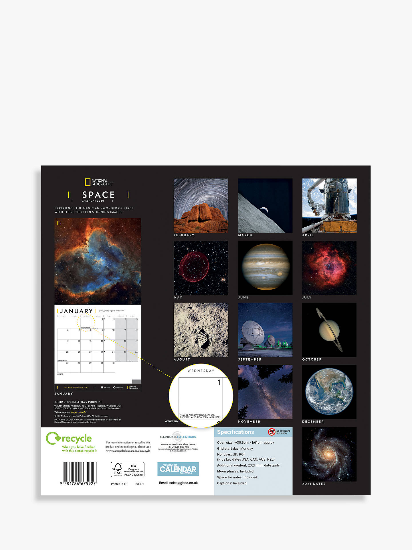 Buy National Geographic Space Square Calendar 2020 Online at johnlewis.com