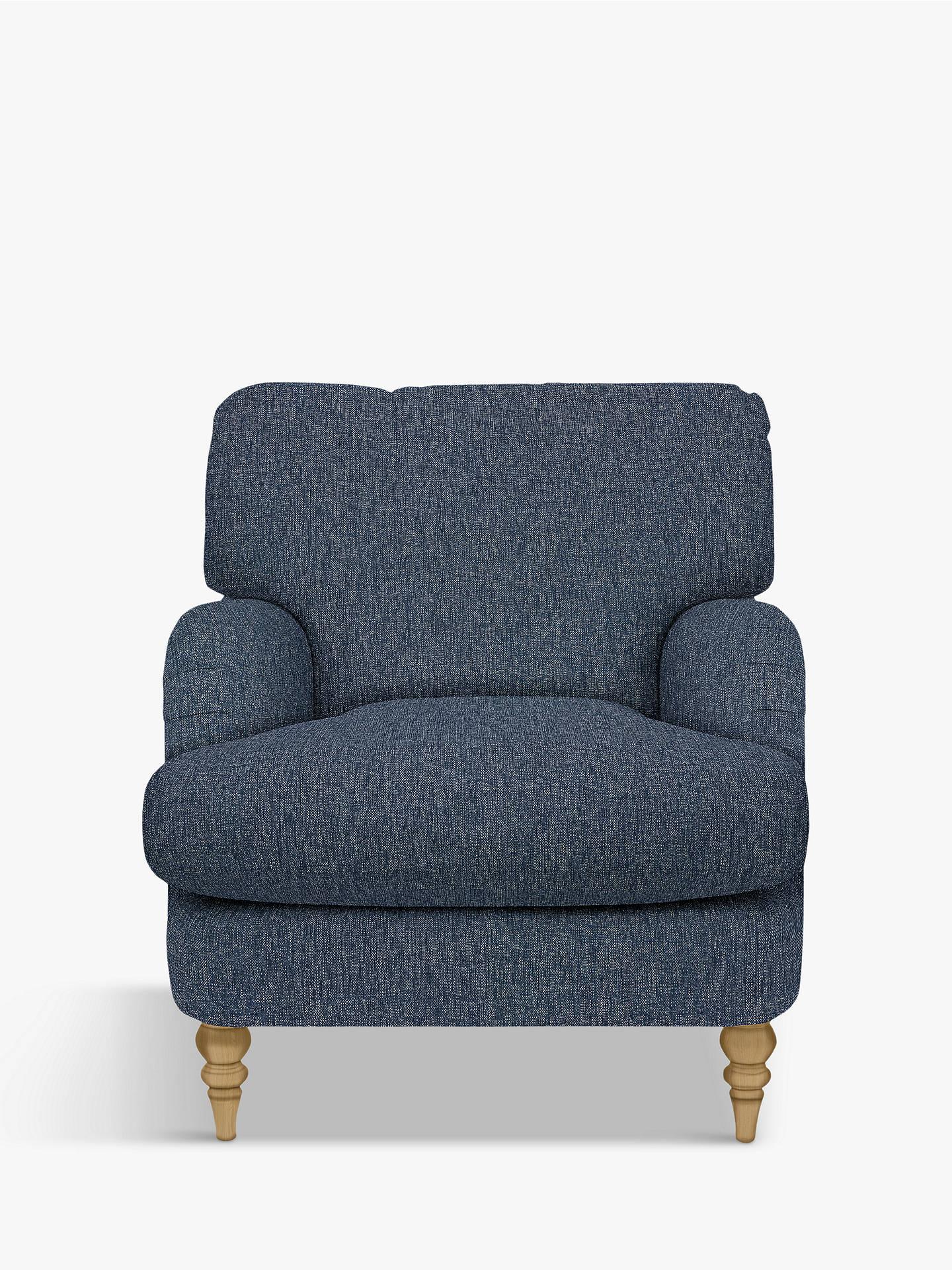 Buy John Lewis & Partners Otley Armchair, Light Leg, Catrin Navy Online at johnlewis.com