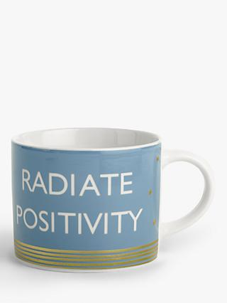 John Lewis & Partners Radiate Positivity Mug, 250ml