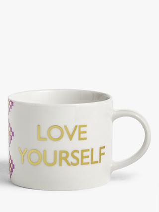John Lewis & Partners Love Yourself Mug, 250ml
