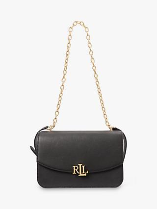 6b3deda11b4f Lauren Ralph Lauren Elmswood Madison Leather Shoulder Bag, Black