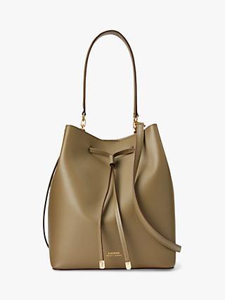b09a4e49ac9 Lauren Ralph Lauren Dryden Debby Leather Medium Bucket Bag
