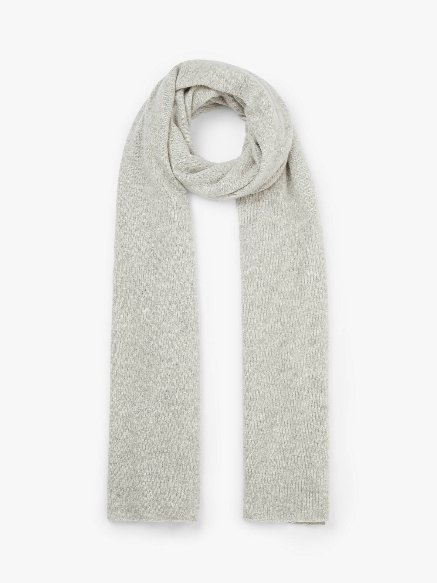 Buy John Lewis & Partners Cashmere Travel Wrap, LIght Grey Online at johnlewis.com