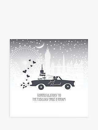 Five Dollar Shake Congratulations Car Wedding Card