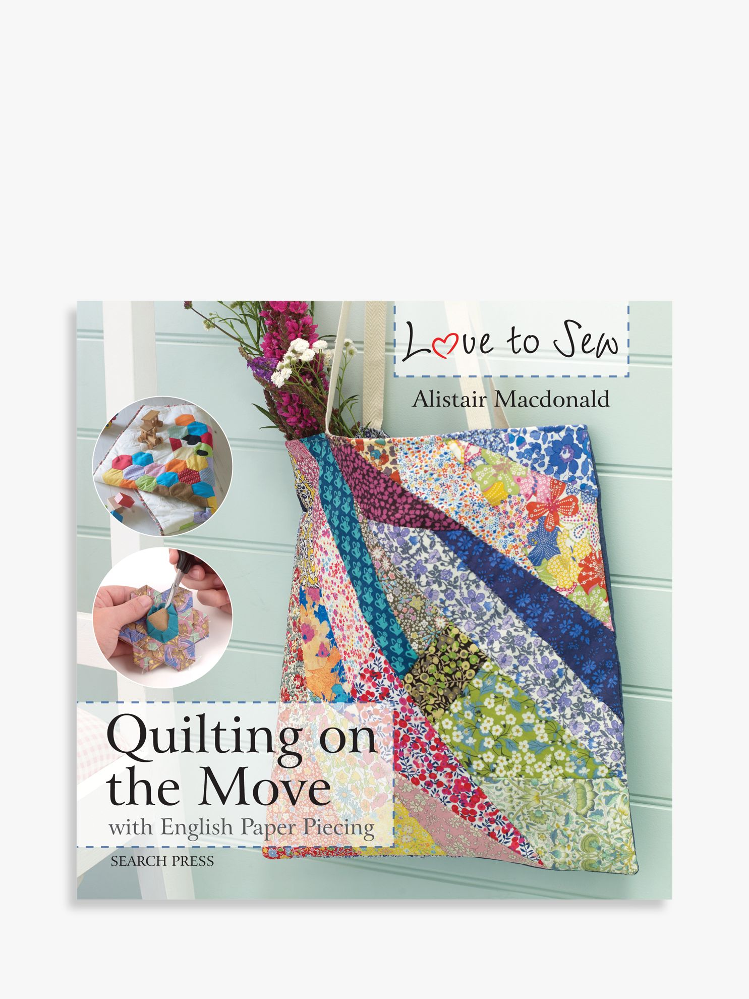 Search Press Search Press Love To Sew Quilting On The Go and Sewing Room Accessories Book Bundle
