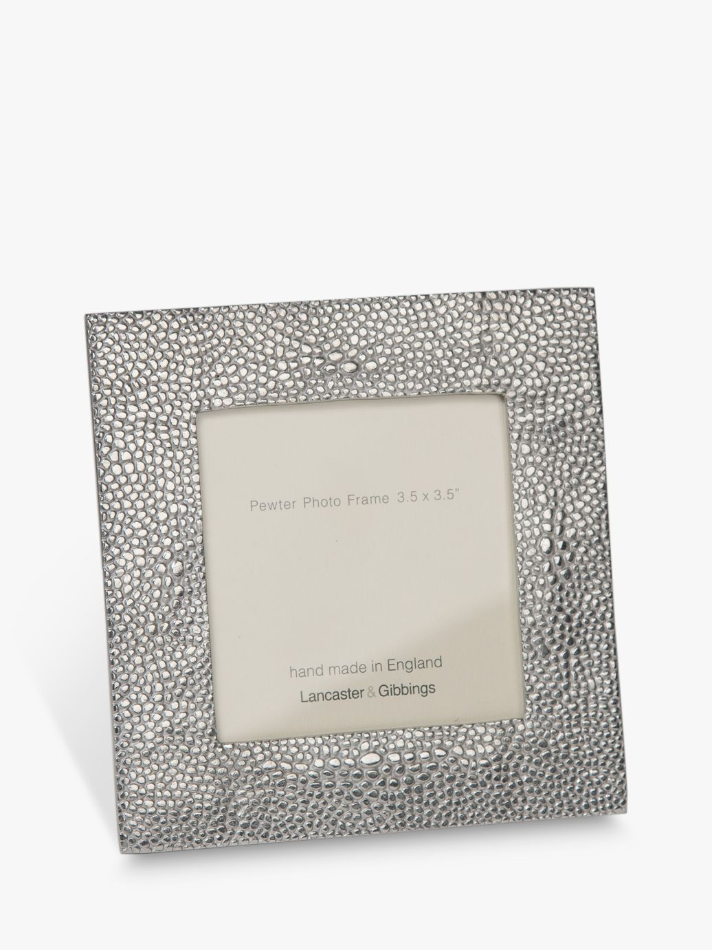 Lancaster and Gibbings Lancaster and Gibbings Shagreen Photo Frame, Pewter