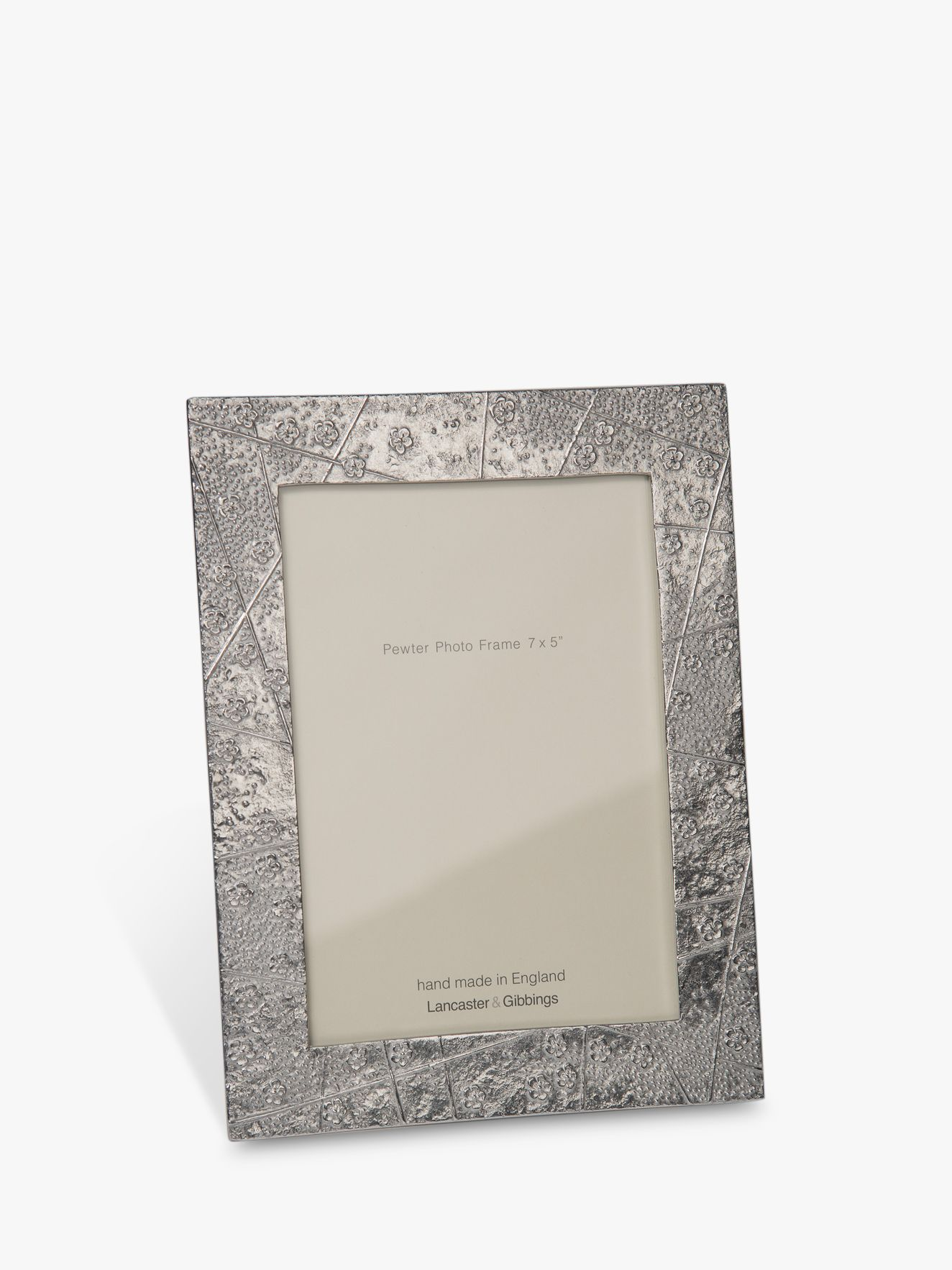 Lancaster and Gibbings Lancaster and Gibbings Blossom Photo Frame, Pewter