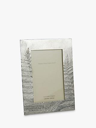 Lancaster and Gibbings Ferns Photo Frame, Pewter