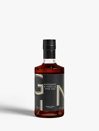 John Lewis & Partners Raspberry & Hibiscus Gin, 50cl