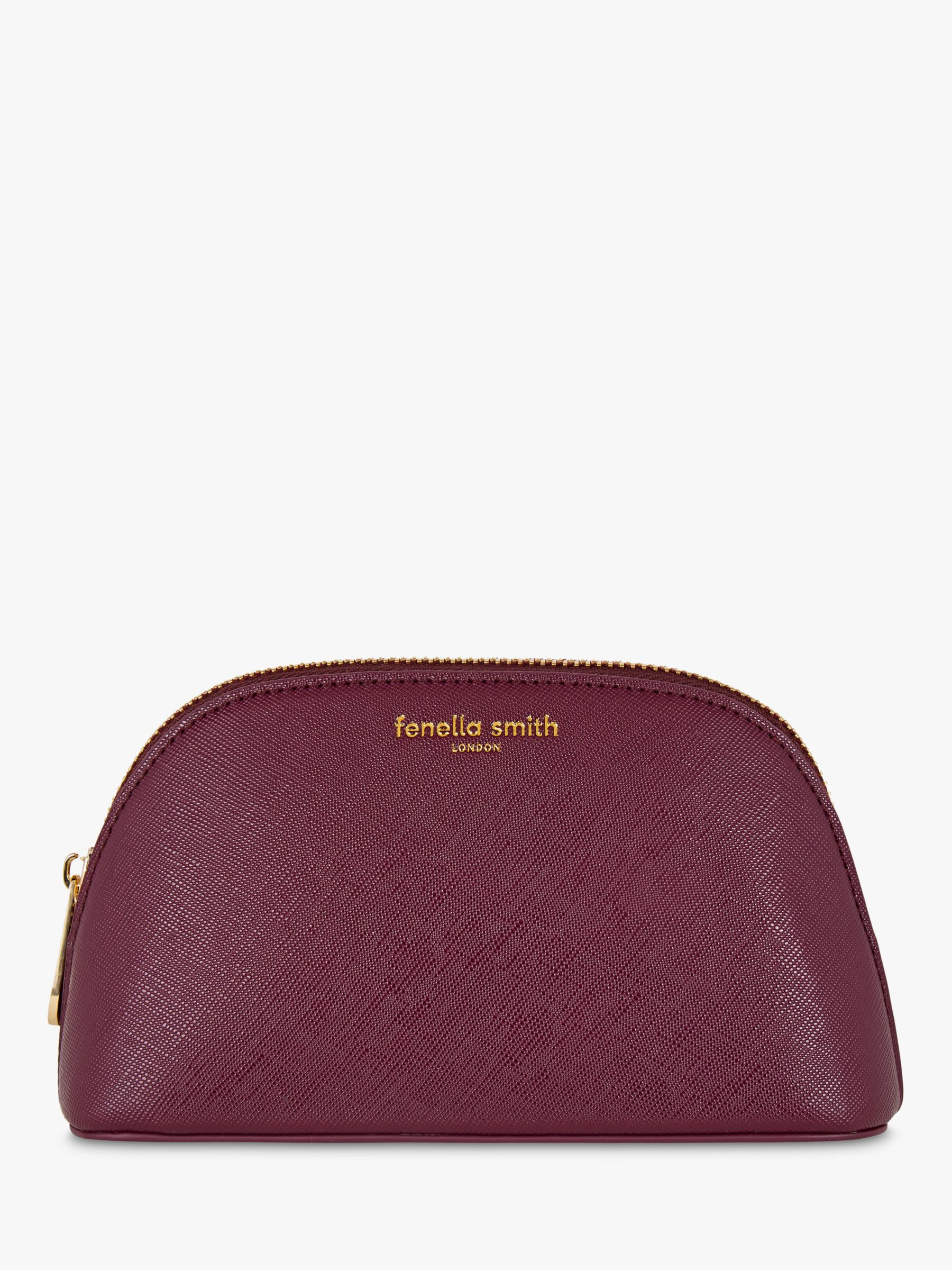 Fenella Smith Fenella Smith Aubergine & Leaf Makeup Bag