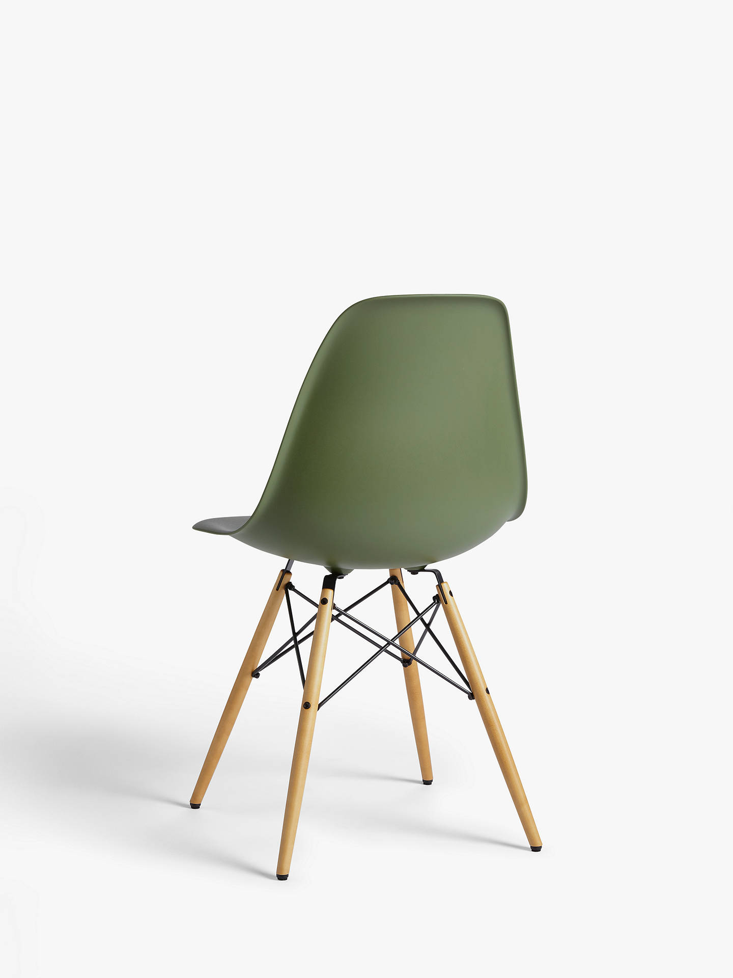 Buy Vitra Eames DSW Side Chair, Light Maple Leg, Forest Online at johnlewis.com