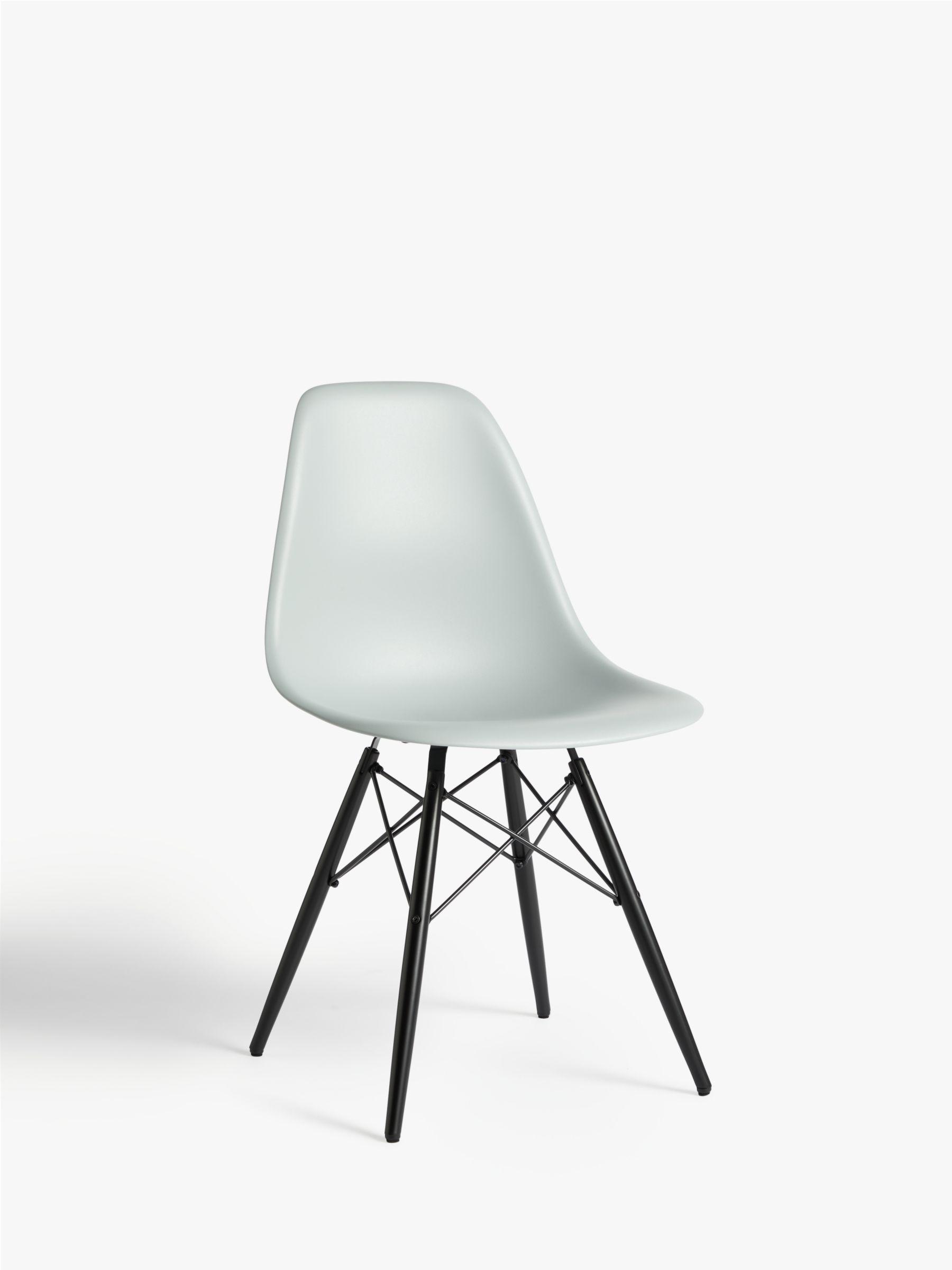 Vitra Vitra Eames DSW Side Chair, Black Maple Leg