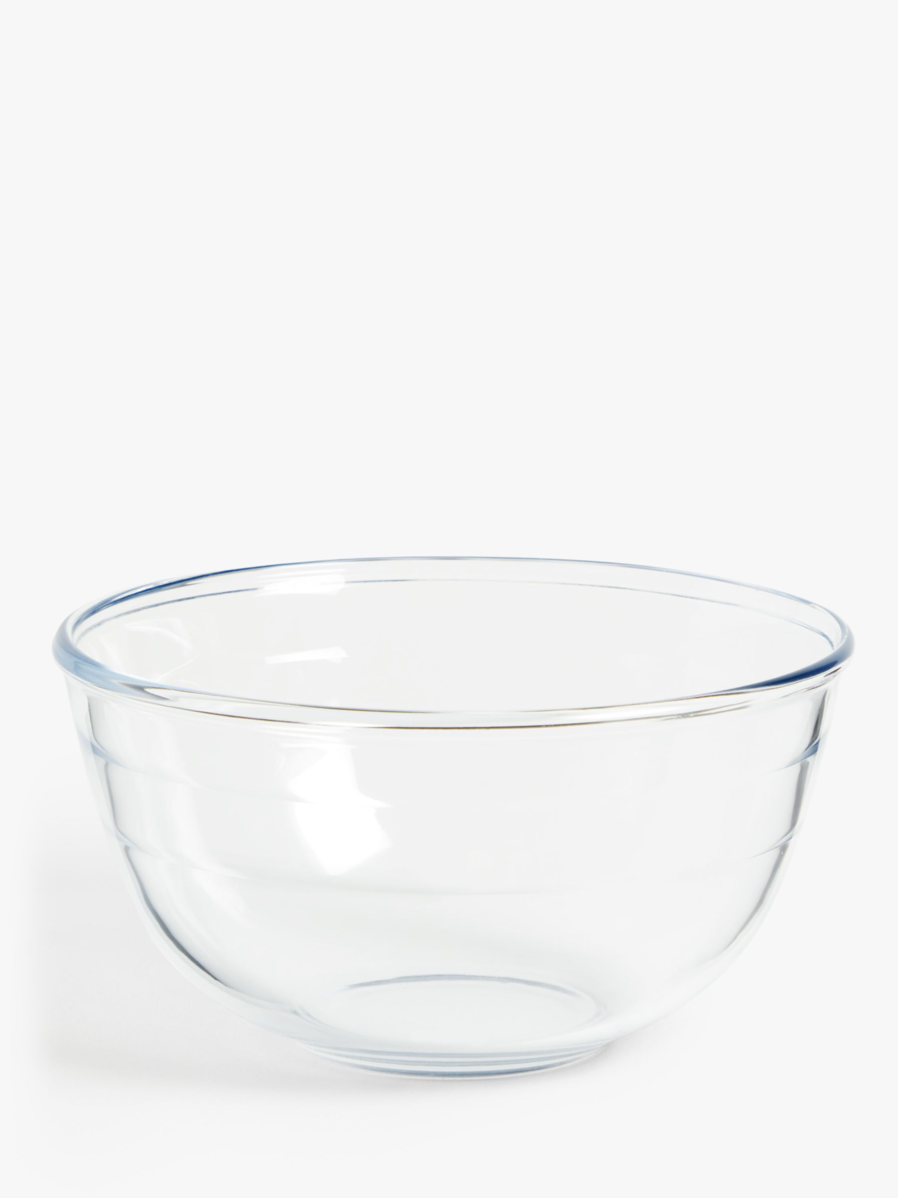 ANYDAY John Lewis & Partners Glass Mixing Bowl, Clear, 2L