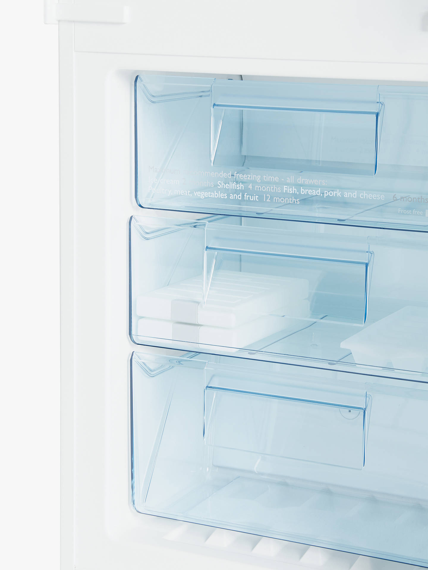 Buy John Lewis & Partners JLBIFF1901 Integrated Fridge Freezer, A++ Energy Rating, 54cm Wide, White Online at johnlewis.com