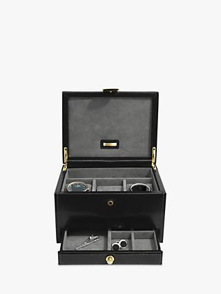 17fcfad0ee2e Stackers Leather 3 Piece Watch Winder Box