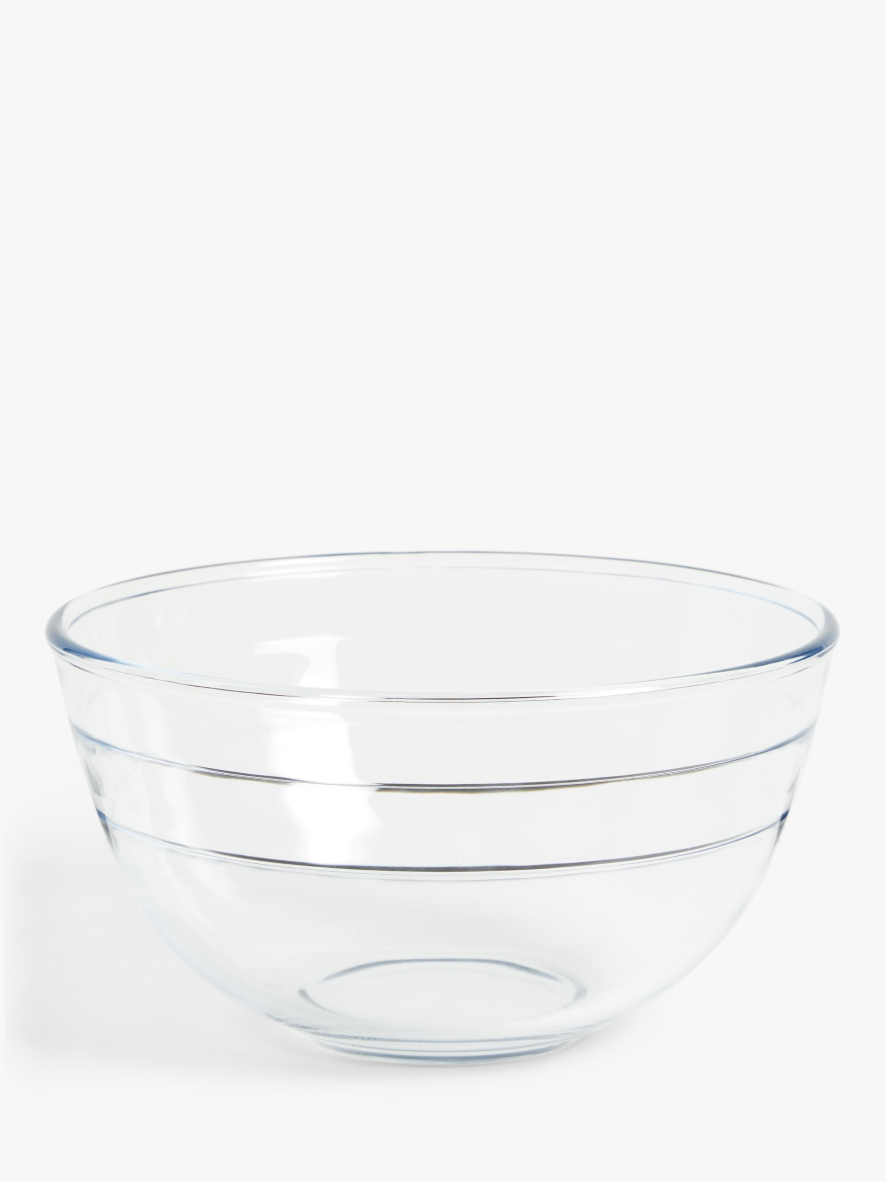 ANYDAY John Lewis & Partners Large Glass Mixing Bowl, Clear, 3L