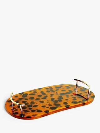 John Lewis & Partners Tortoiseshell Drinks Tray