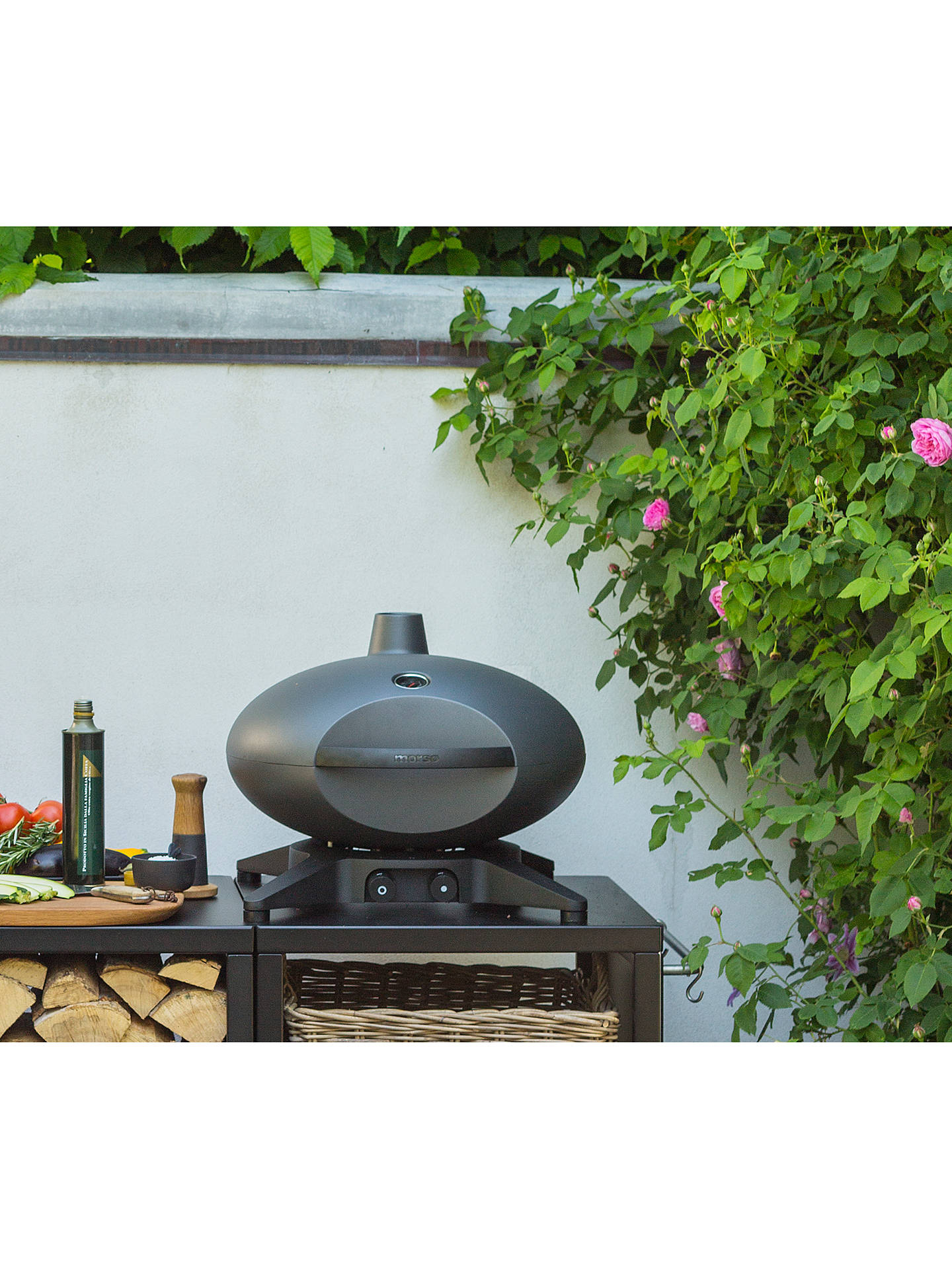 Buy Morsø Forno Medio Gas BBQ with Cover & Stand & 3 Tools Package, Black Online at johnlewis.com