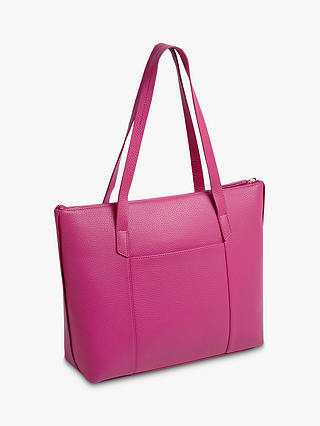 Buy Radley Wood Street Large Leather Tote Bag, Fuchsia Pink Online at johnlewis.com