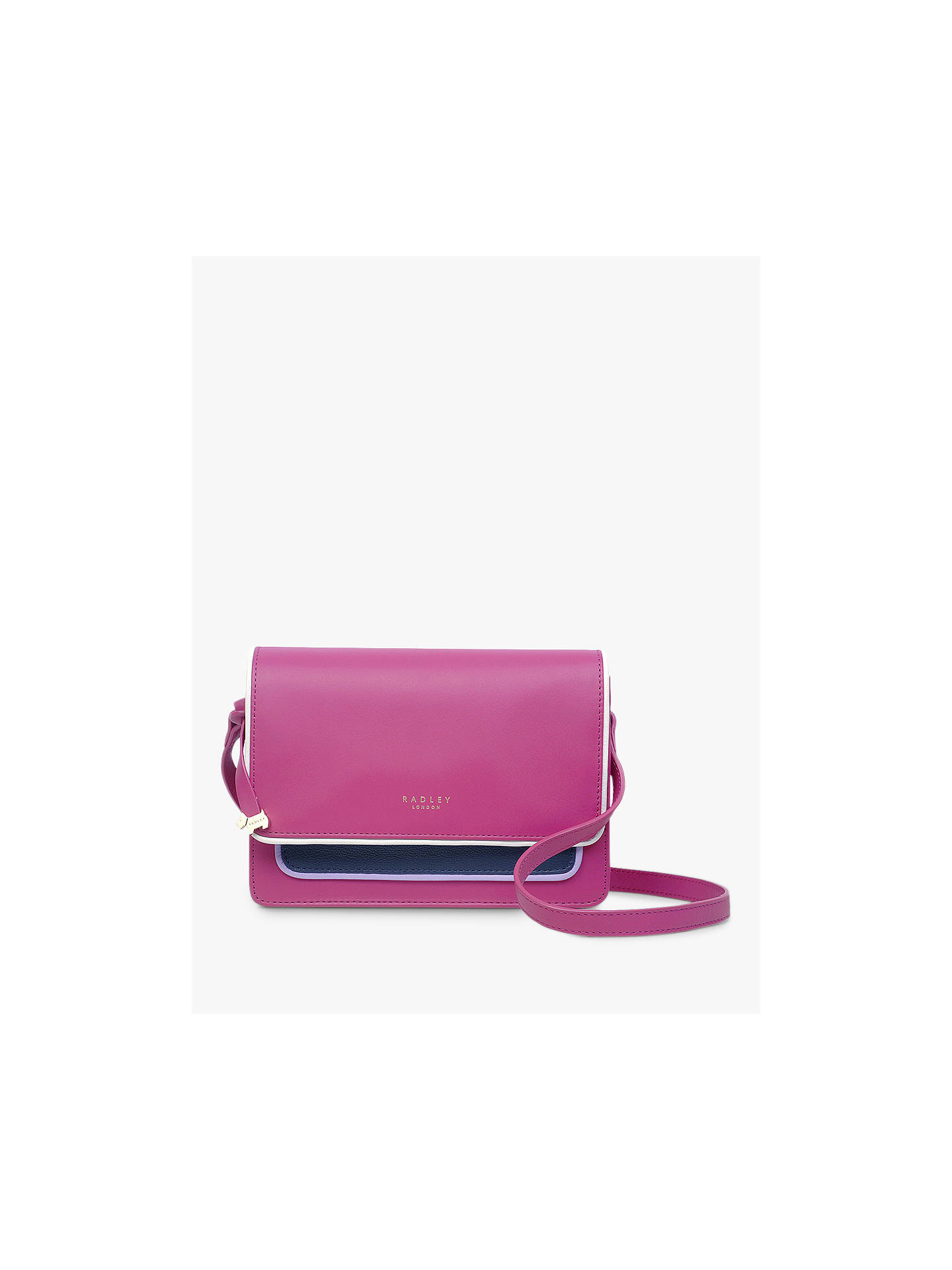 4dc7f75462 Buy Radley Selby Street Leather Medium Cross Body Bag, Fuchsia Pink Online  at johnlewis.
