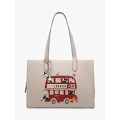 Radley Party Bus Leather Shoulder Bag, Dove Grey