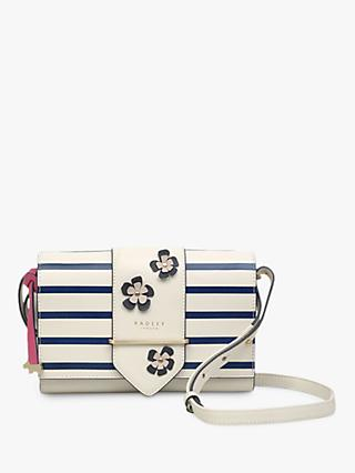 Radley Palace Street Leather Small Flap Over Cross Body Bag, Chalk