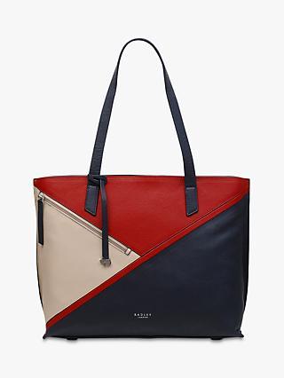 6c60c2d5da15 Radley Cedar Road Leather Colour Block Shoulder Bag, Ink Blue