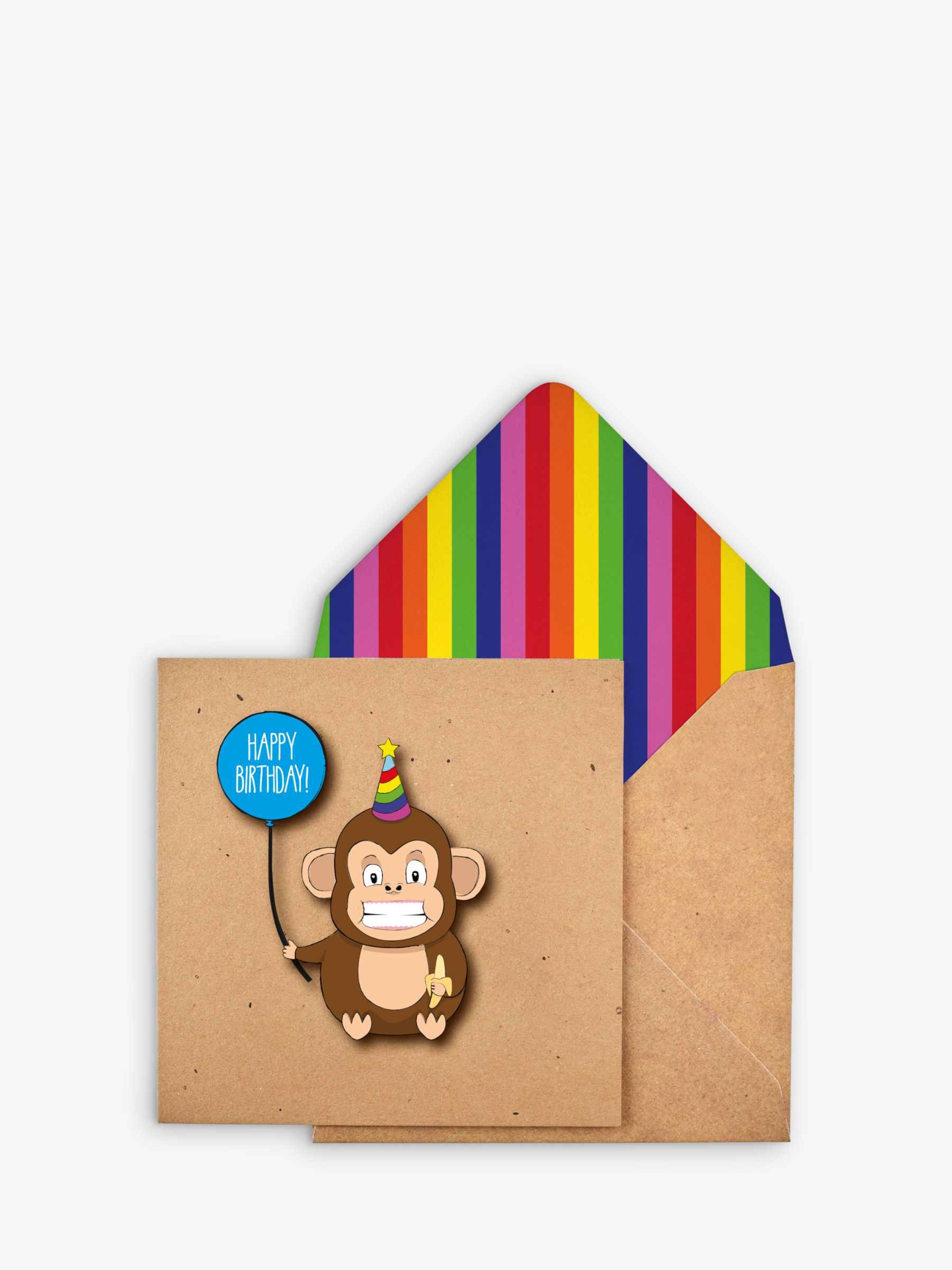 Tache Crafts Tache Crafts Monkey Birthday Card