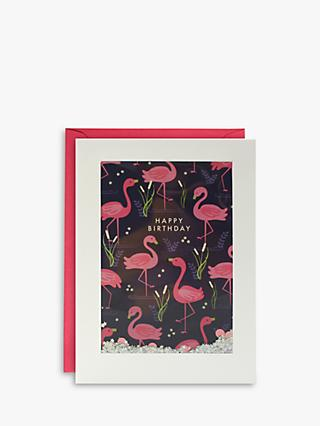 James Ellis Stevens Flamingo Shakies Birthday Card