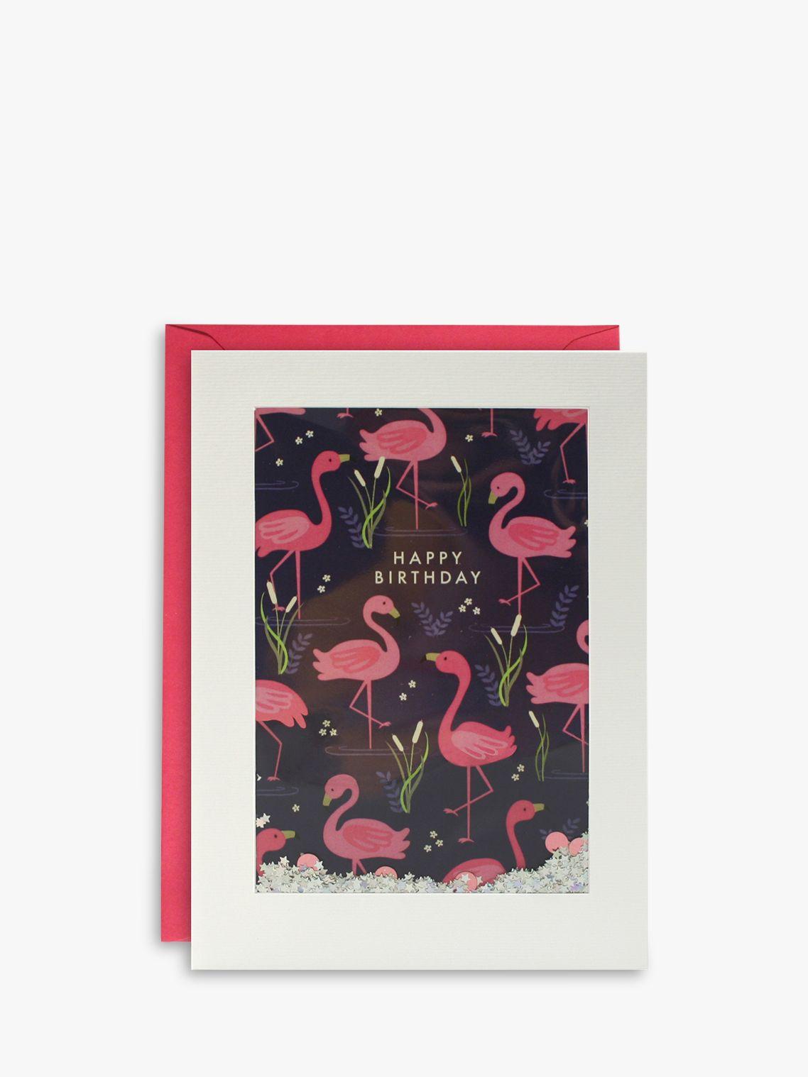 James Ellis Stevens James Ellis Stevens Flamingo Shakies Birthday Card