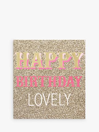 Caroline Gardner Glitter Birthday Card