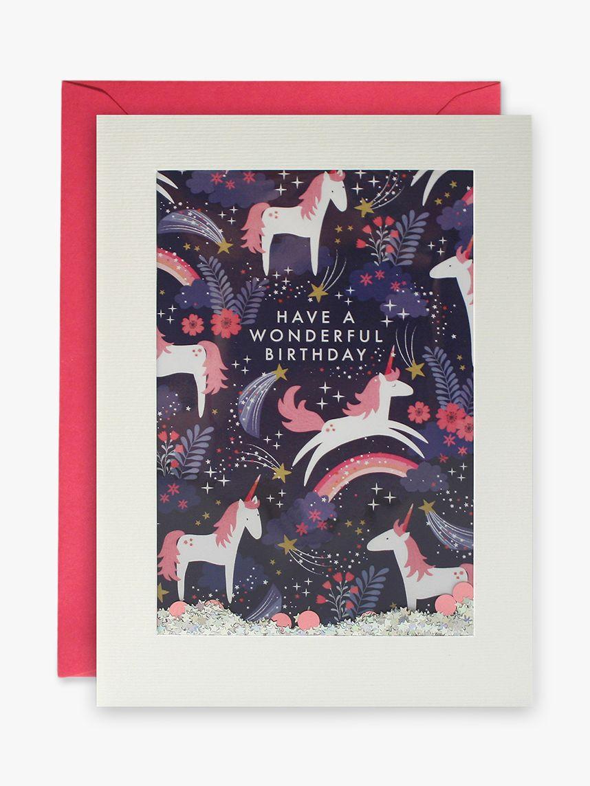James Ellis Stevens James Ellis Stevens Shakies Unicorn Birthday Card