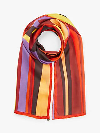 FRAAS Abstract Print Oblong Silk Scarf, Red/Multi